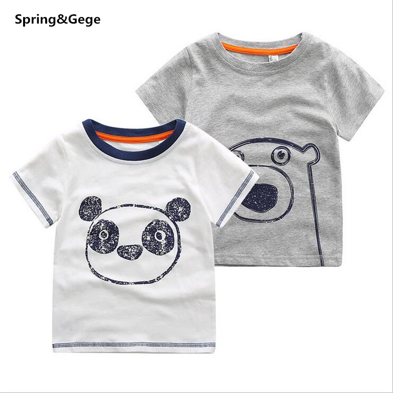 2-5Y Children T-shirts Summer baby boy clothes New Boys T-shirt Animal Pattern Kids Tops Tees 100% Cotton Children Clothing(China (Mainland))