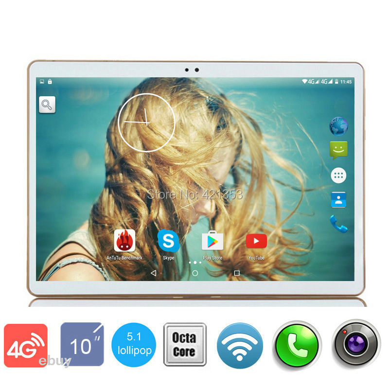 Free Shipping Google Play Store Android 5.1 OS 10 inch 4G LTE Tablet Octa Core Tablet 10.1 4GB RAM 32GB ROM Dual Cameras GPS MID(China (Mainland))