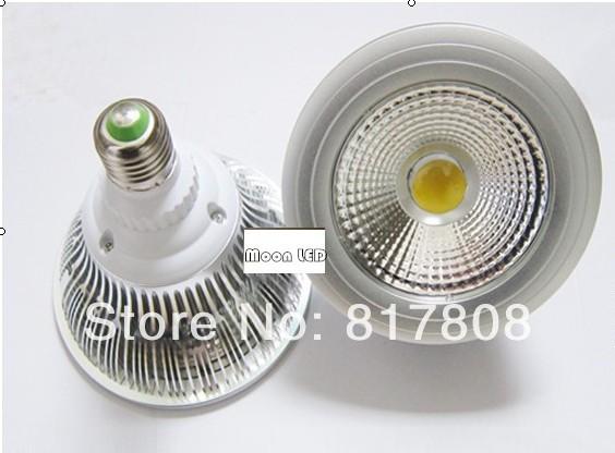 Factory Wholesale 15W cob led dimmable par 30 led light bulb e26 e27 base PAR30 Bulb 50pcs/Lot(China (Mainland))