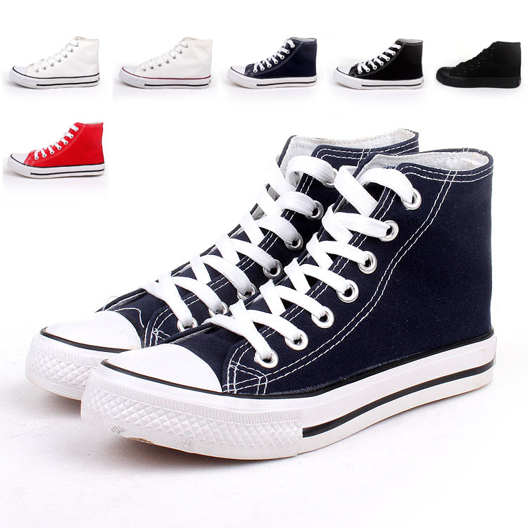 high cotton made shoes black and white flat