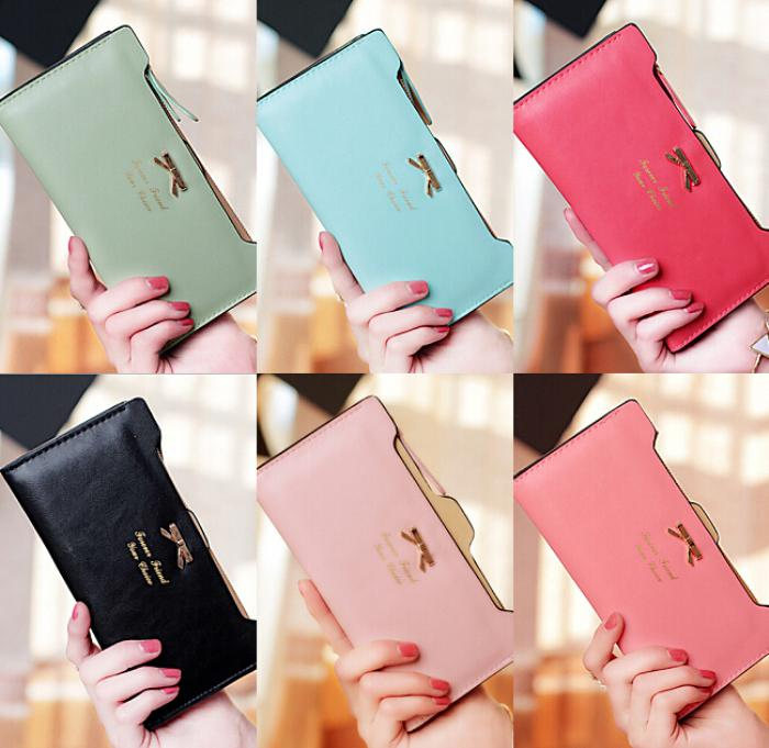 High Quality 2015 New Arrival PU Leather Women Wallets Ladies Messenger Bag Long Wallet Change Purse FREE Shipping [C1402](China (Mainland))
