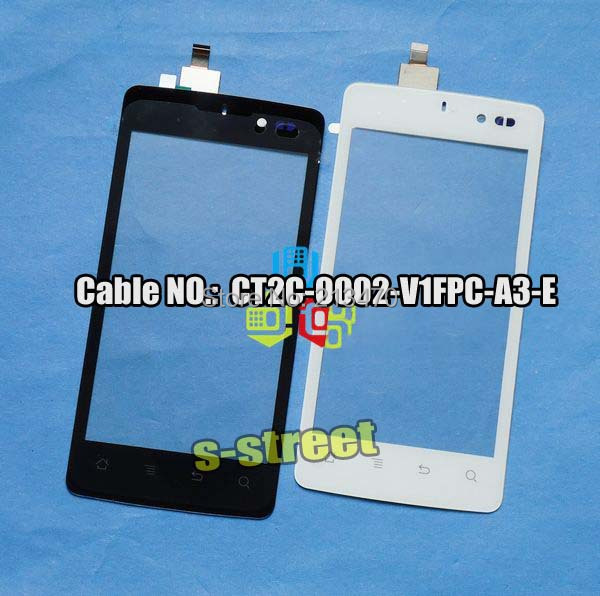 Black or white Original Digitizer Touch Screen glass For Archos 45 Platinum front panel +tracking(China (Mainland))