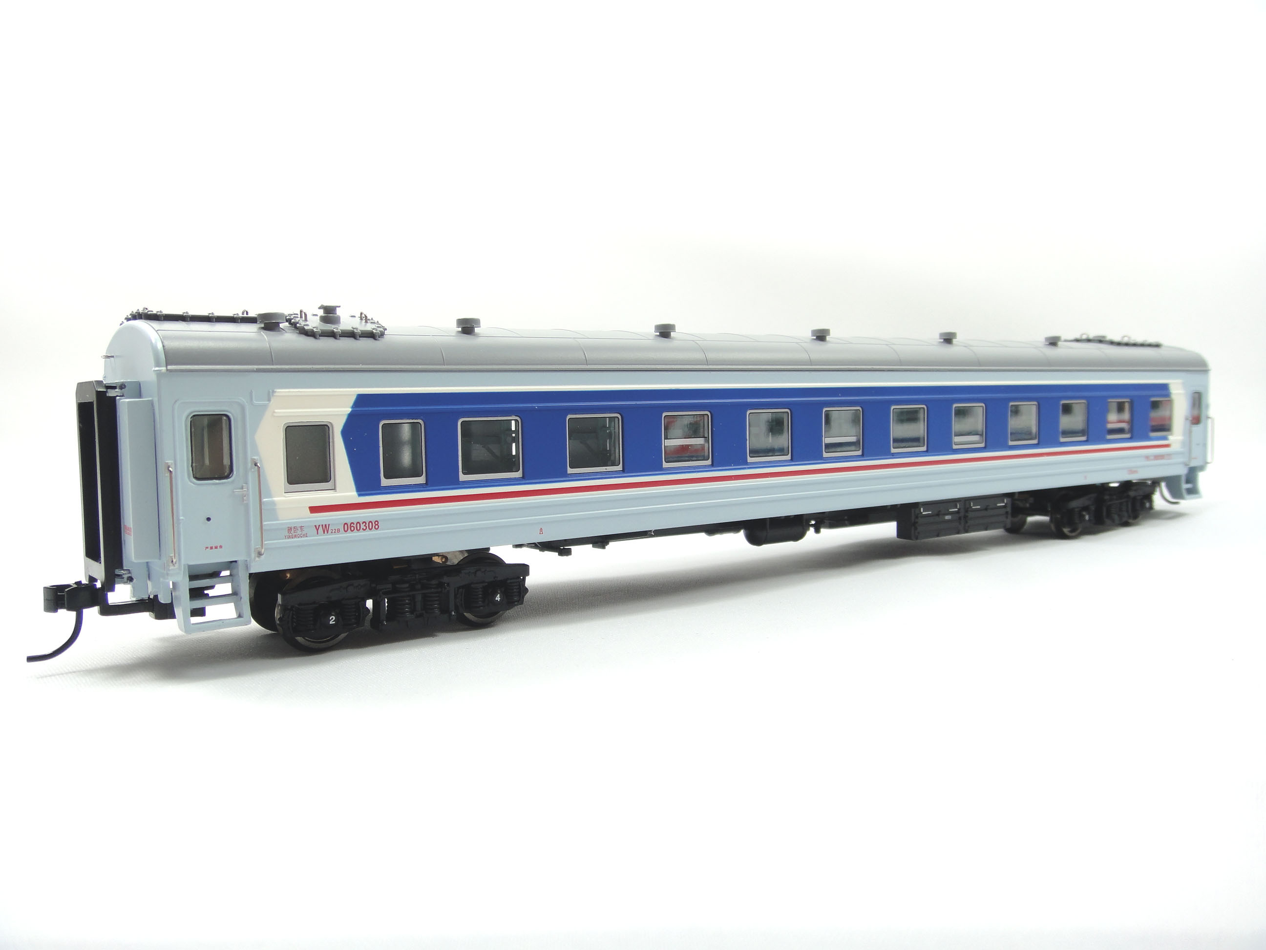 Bachmann 22 type monolayer model train hard sleeper YW carriages (# 060308, guangzhou railway zhao) - with the lamp<br><br>Aliexpress