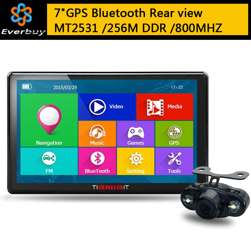 GPS-навигатор 7/hd GPS Bluetooth FM 8 /256M DDR/800 GPS Navi навигатор gps lexand sa5 hd 5 sa5 hd