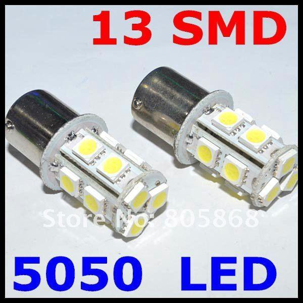 12v 13 Smd 5050 Led Car Tail Brake Light Bulbs 1156 Turn Automobile Wedge Ba15s Free Shipping led brake Light
