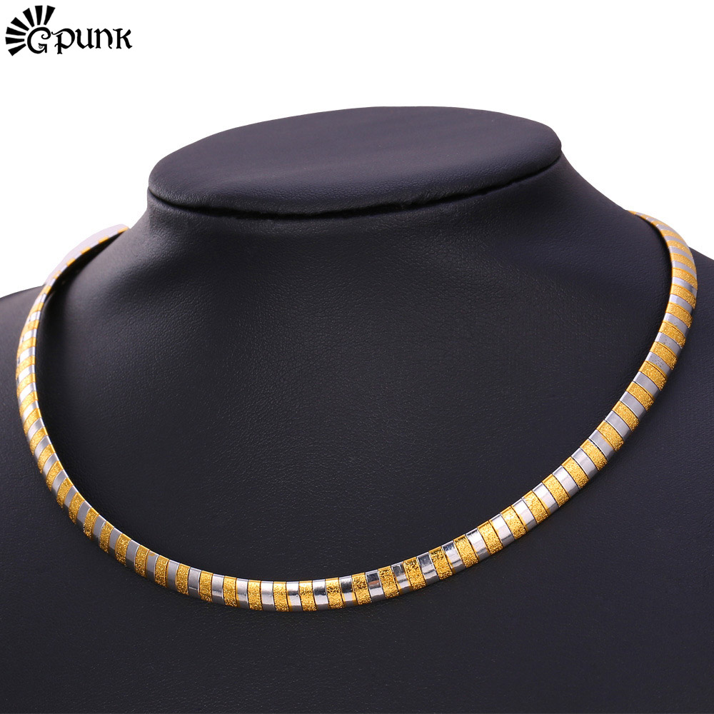 Accessories Vintage Jewelry Necklace 316L Stainless Steel Never Fade Cuban Necklaces Gift For Men/Women necklace N1544G(China (Mainland))