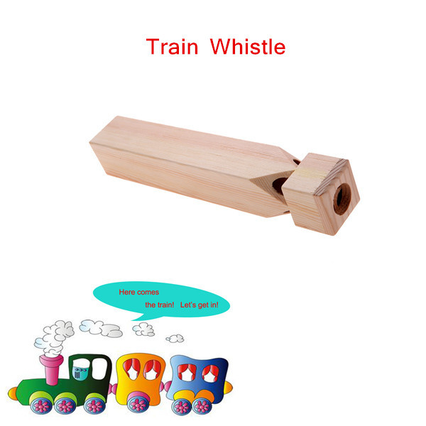 Wooden Train Whistle Birch Kid's Children Musical Toy Exquisite Toy Musical Instrument Top Quality(China (Mainland))