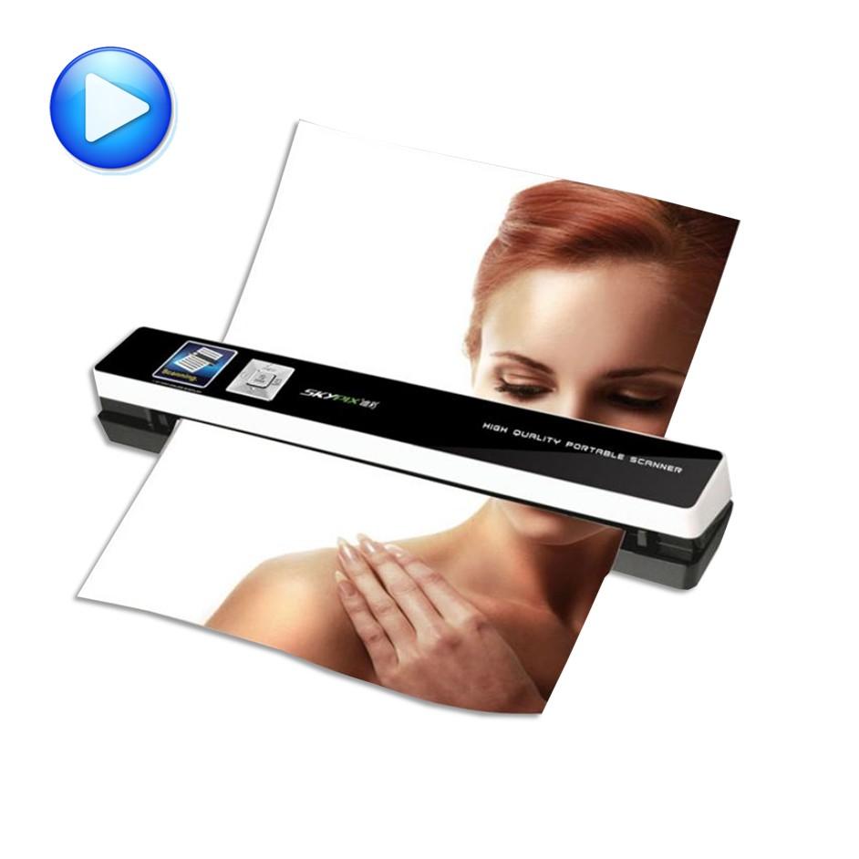 Фотография portable scanner skypix TSN480 automatic feeding HD High speed A4 file certificate scanning send 8G TF card id card scanner