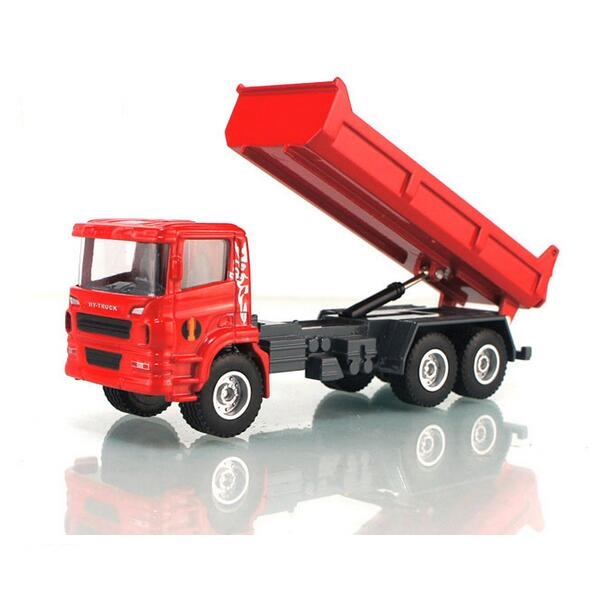 Free shipping Huayi 8 alloy large full round dump truck dump car big truck engineering car toy educational toys wholesale(China (Mainland))