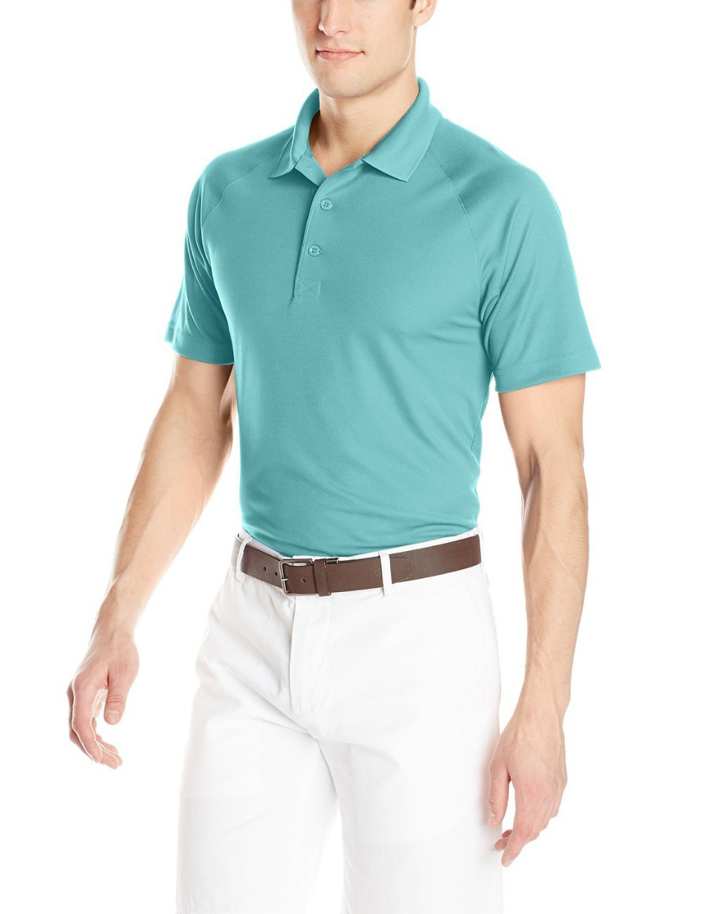 2015 new summer men collar polo shirt men clothing solid for Business casual polo shirt
