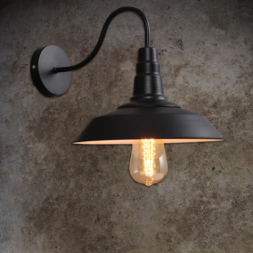 Buy loft vintage wall lights for home for Industrial outdoor lighting