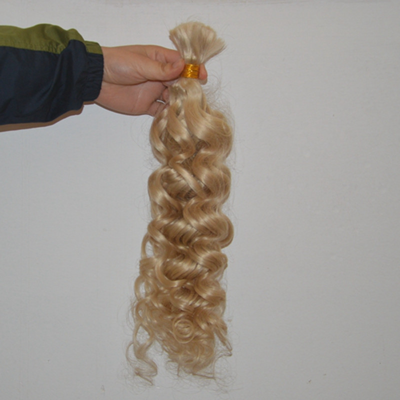 60# BIonde human hair brazilian remy human hair braiding hair bulk 60# 3pcs/set Body Wave high quality hair bulk Free shipping
