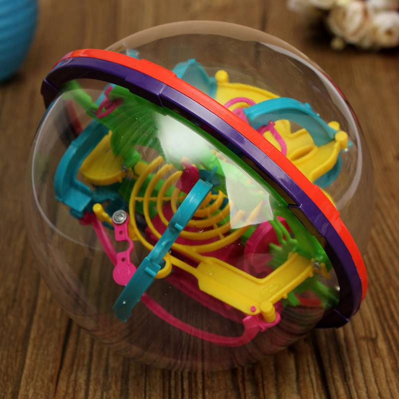 3D Magic Intellect Maze Ball Kids Children Puzzle Game Educations IQ Ability Practical Trainer(China (Mainland))