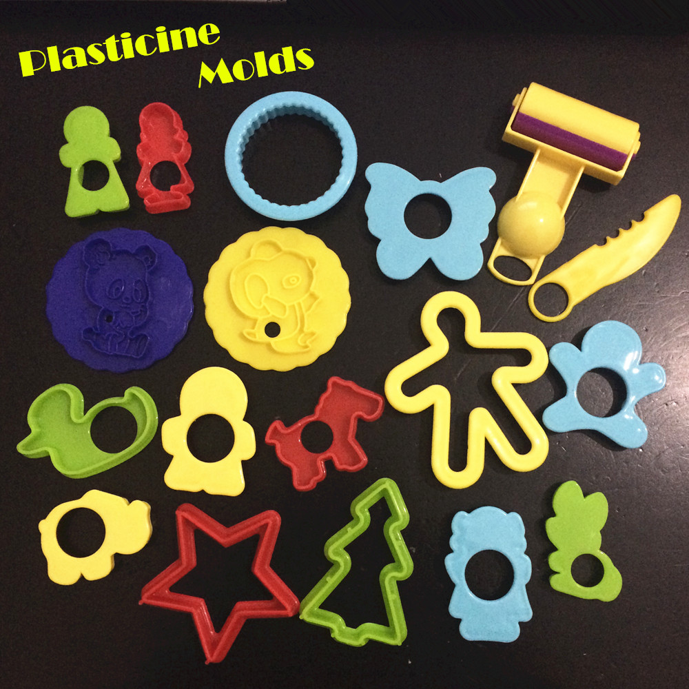 18pcs Smart Play Doh Polymer Clay Putty Intelligent Plasticine Play Doh Clay Polymer Mould Plasticine Fimo Polymer Tools Toys(China (Mainland))
