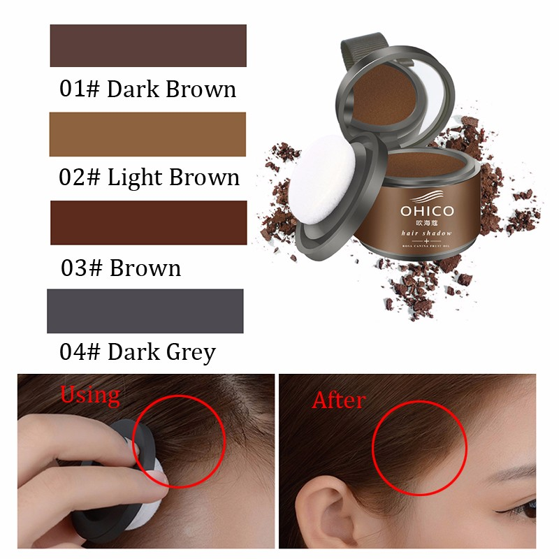 Hair Shadow Trimming Eyebrow Powder Cover White Color Brown Grey ...