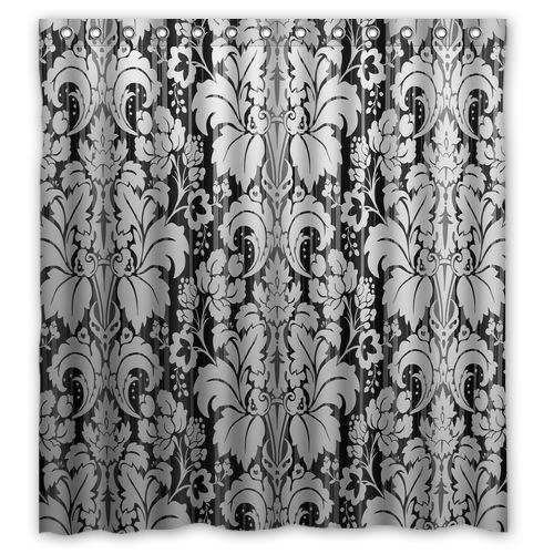 New classical modern shower curtains black and white retro - Rideaux design noir et blanc ...