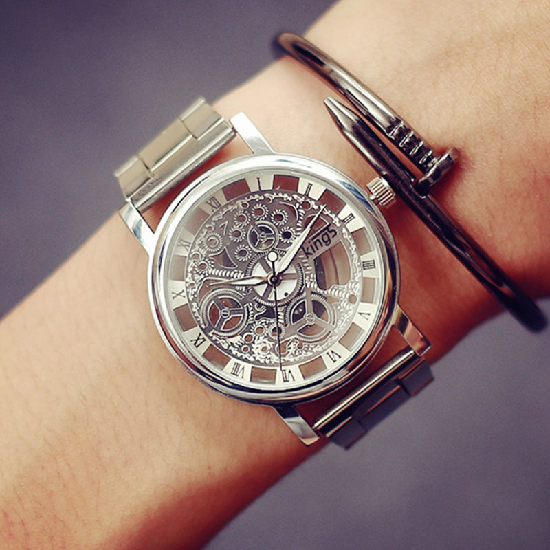 2016 new fashion jis gold color mens watches casual