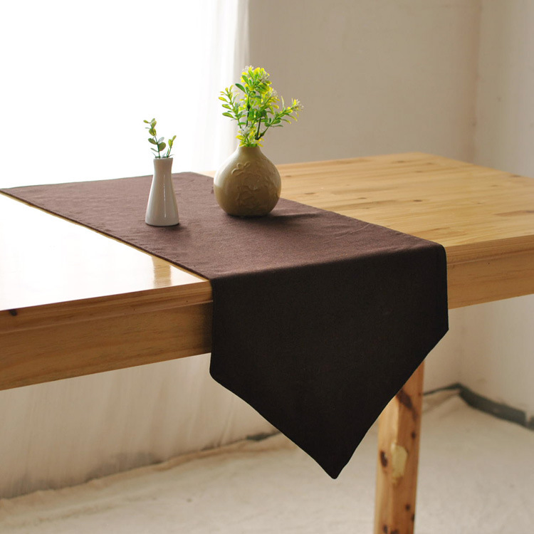 Buy simple solid brwon linen rustic home for Rustic home decor suppliers