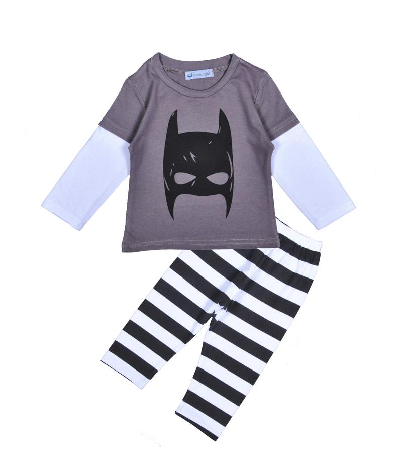 Batman Baby boy clothing set cartoon Batman print T shirt