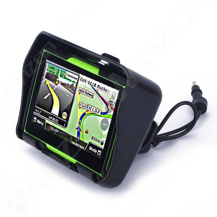 Обновлено 256 ОЗУ 4.3 дюймов мото-gps водонепроницаемый Moto навигация автомобиля трекер Bluetooth навигатор 8 ГБ флэш-памяти + бесплатные карты