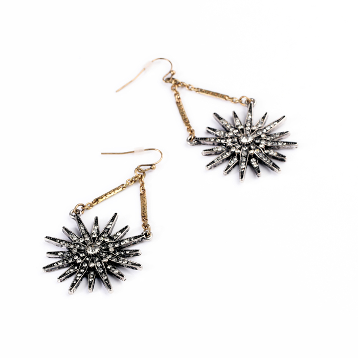 Crystal Dancing Star Earrings Drops ShiJie New Arrival Jewelley Sets(China (Mainland))