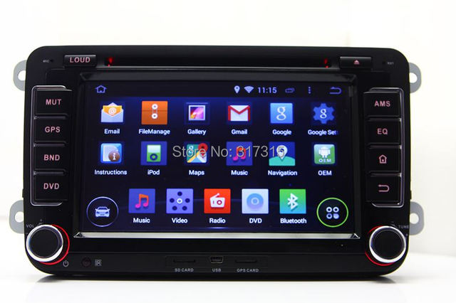 Android 5.1 Car DVD Player for VW Volkswagen Jetta Passat Golf Polo EOS with GPS Navigation Radio BT USB AUX DVR TV 3G WIFI