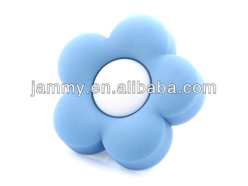 top quality round knob soft baby blue flower furniture handles,kids bedroom drawer pulls ,kids bedroom dresser knobs(China (Mainland))