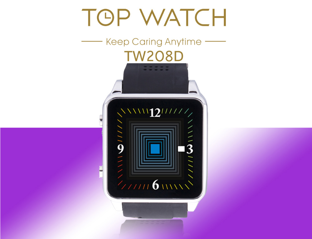 """TW208D Unlocked Smartwatch 1.54"""" Touch Bluetooth GSM SIM Cell Phone Watch for Android Smartphone NFC without Camera(China (Mainland))"""
