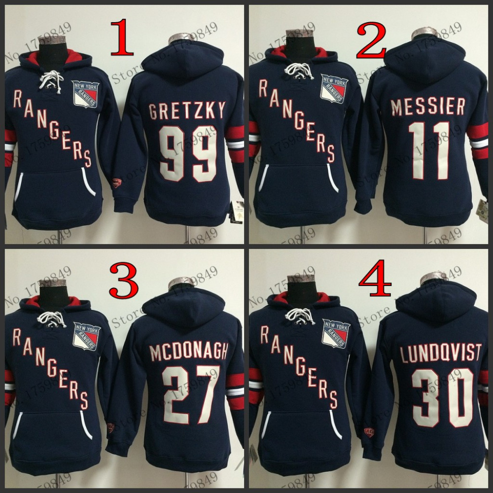 cheap women New York Rangers hoodie hockey jersey 11 Mark Messier blue girl hooded sweatshirt,mix order,stitched logos - Top-rated Sports Store store