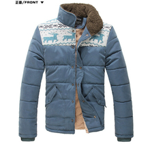HOT quality! flagship store! NOT COPAY!Men winter jacket , deer pattern wool Cotton-padded clothes,men outerwear jacket ,