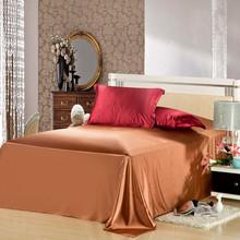 Silk bed sheet set flat sheet+ fitted sheet + 2pillowcase silk linen bedclothes cushion cover bed sheet set mattress cover(China (Mainland))