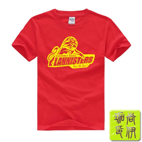 House Lannister Game of Thrones Printed Mens Men T Shirt Camisetas Masculinas 2015 Manga Curta Camisa Masculina Tshirt(China (Mainland))