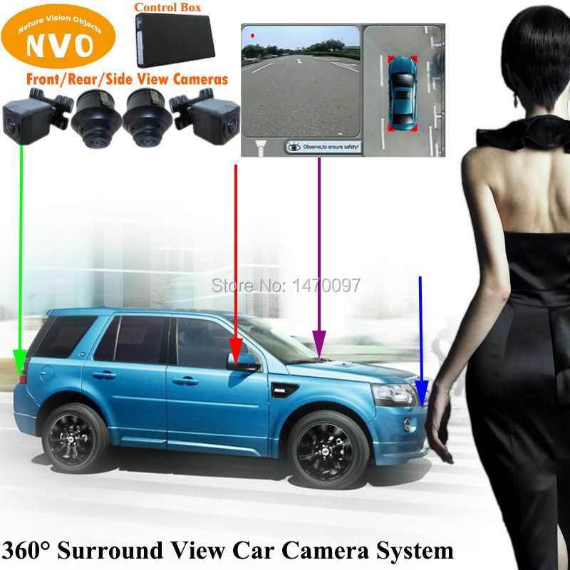 360 degree panoramic camera system car parking rear view camera with dvr function for land rover. Black Bedroom Furniture Sets. Home Design Ideas