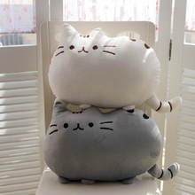 Kawaii Brinquedos New Cat Pusheen Pillow With Zipper Only Skin Without PP Cotton Biscuits Kids Toys Big Cushion Pillow Kids Toys(China (Mainland))