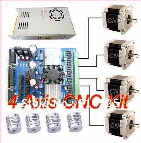 Cnc 4 axis tb6560 driver nema 23 stepper motor power for 3 axis nema 23 stepper motor driver controller cnc kit