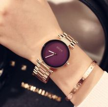 Hongkong Luxury GUOU Korean temperament simple Ms Rose Gold steel watches quartz watch students Quartz Wristwatches