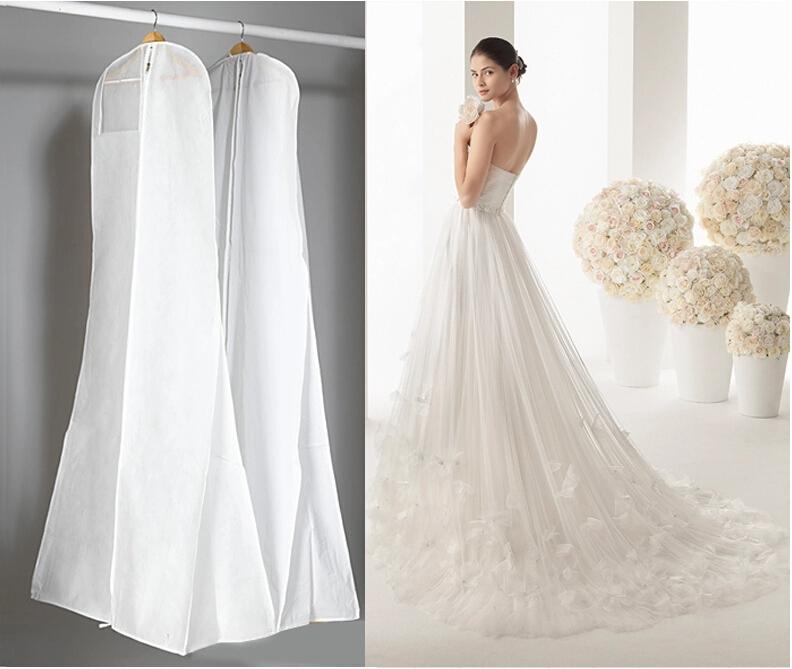 180cm Long High Quality Long TRAIN Wedding Dess Dust Bag Evening Dress Dust Cover Bridal Garment Storage Bag(China (Mainland))