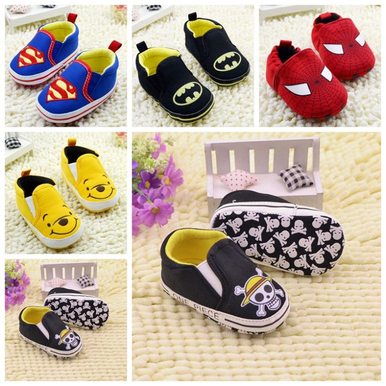 Baby infant First Walker soft sole prewalker Shoes superman Newborn toddler boys/girl antislip bebe sapatos age 0-18 month R1163(China (Mainland))
