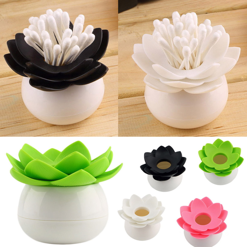 Brand new Lotus Flower Cotton swab box cotton bud holder base room decorate / Lotus Toothpicks holder Toothpick case(China (Mainland))