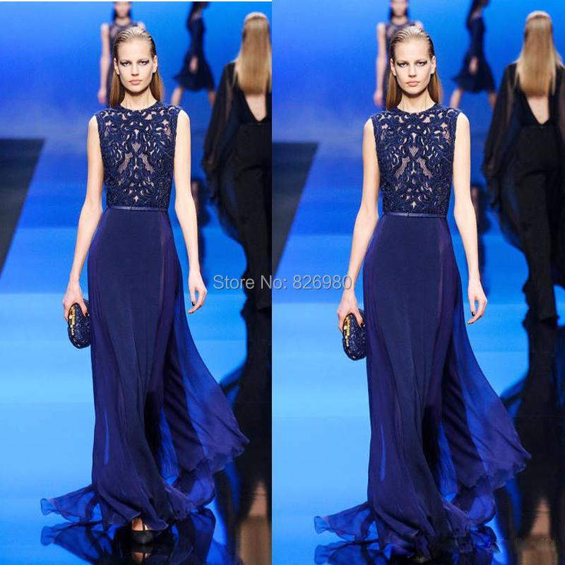 Вечернее платье Dongfang Bride 2015 Elie Saab Royal Blue  E03.06-4