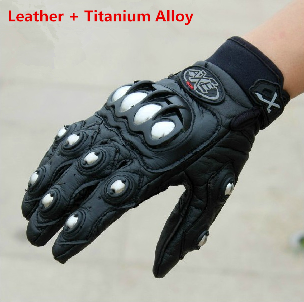 2015 New Mens Leather &amp; Titanium Alloy Wearable Motorcycle Gloves Motocross Luva Moto Guantes Motorbike Racing Gloves<br><br>Aliexpress