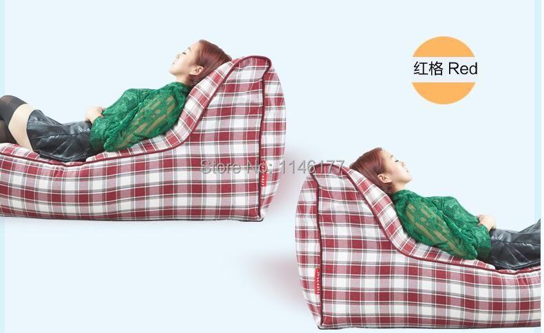2016 new creative beanbag tatami single folding chair recliner red plaid sofa(China (Mainland))