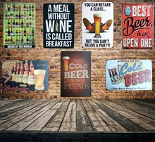 [ Mike86 ] BEER OF THE WORLD Metal Signs Gift PUB Wall art Painting Poster Bar Pub Craft Decor AA-129 Mix order 20*30 CM(China (Mainland))