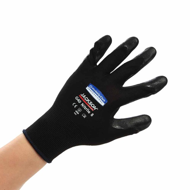 Kimberly g40 black nitrilobutadien coating gloves outdoor gardening gloves thin bag
