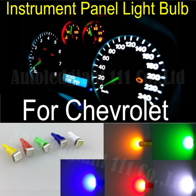 T5 Led Light 286 White Red Blue Green Yellow SMD Car Gauge Dash bulb Speedo Dashboard Instrument Light For Chevrolet Cruze 25x(China (Mainland))