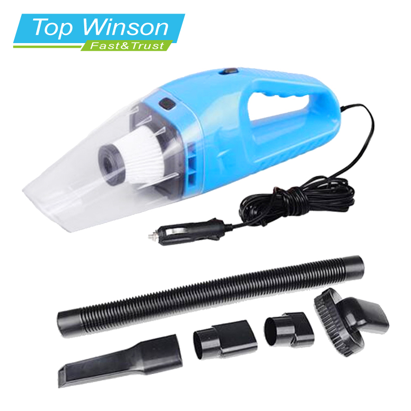 Car Vacuum Cleaner Hand Held Wet and Dry dual-use Auto Cigarette Lighter Hepa Filter 12V 120W Blue(China (Mainland))