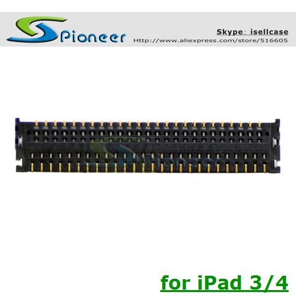 Original New LCD FPC connector for iPad 3 4 LCD display screen FPC on Logic motherboard mian board Free Shipping