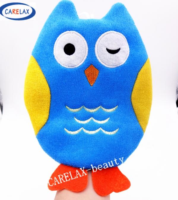 Bath Sponge Kids Cartoon Animals Bath Gloves Blister towel Better Bodies Pure cotton For Children Toy Without Stimulation