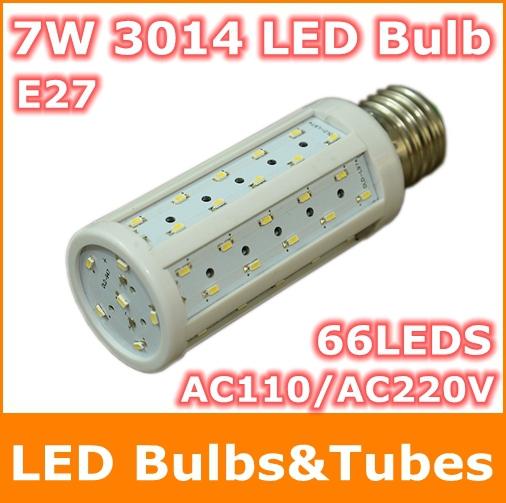 SMD3014 Cree Chip E27 LED AC110V 220V 7W Led light Corn lamp 66leds High brightness energy saving Bulb Light - Tomtop supermarket store