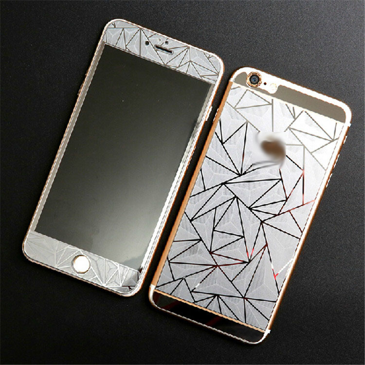 """1 Pair For Iphone6 4.7"""" 3D Diamond Color Front + Back Film Tempered glass Protective Phone Screen Protector For Iphone 6(China (Mainland))"""